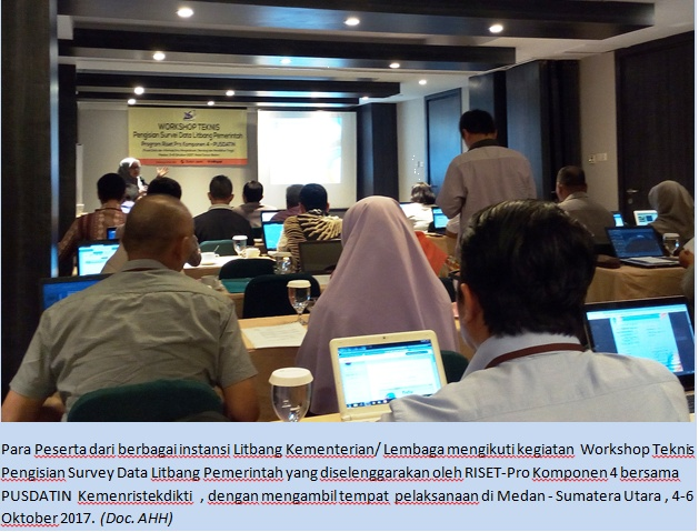Kilas Foto: Workshop Teknis Pengisian Survey  Data Litbang Pemerintah